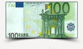 Pour 100 euro encaissés