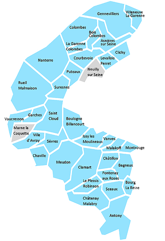 Carte des communes du parc immobilier Inser'Toit