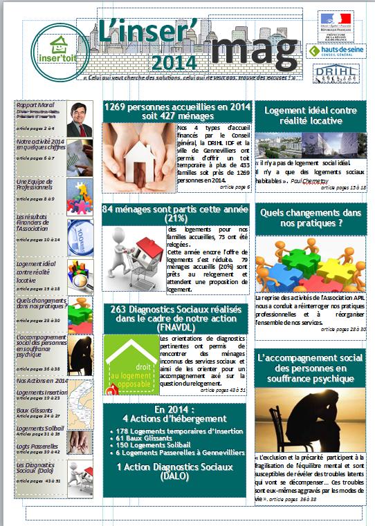 Téléchargez l'inser'mag 2014